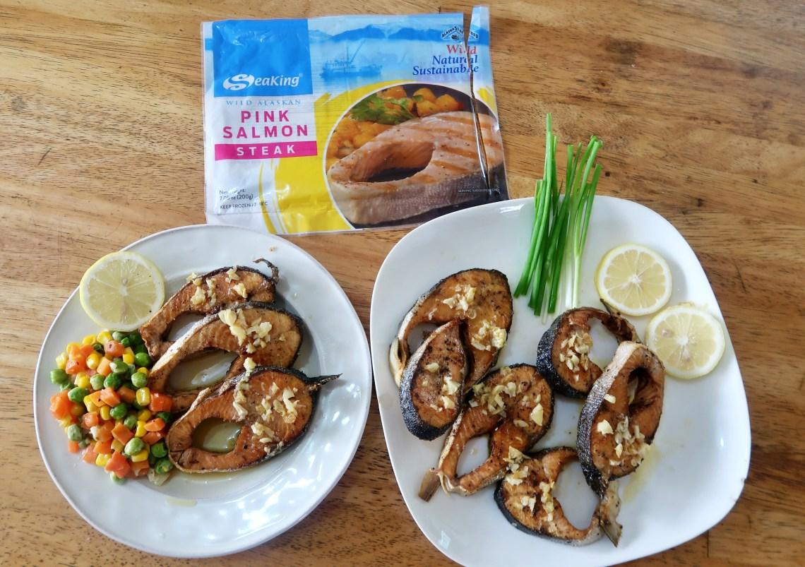 SeaKing Pink Salmon Steak With Garlic Lemon Butter Sauce Recipe, mommy blogger ph