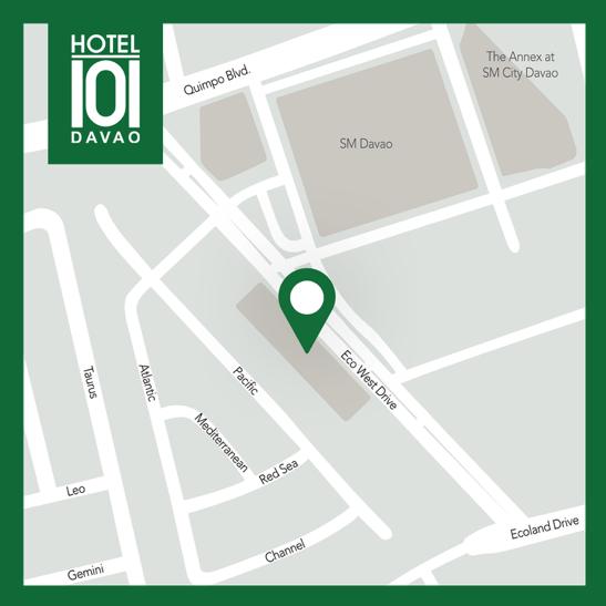 Hotel 101 - Davao Map