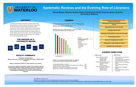 ID# 75  Systematic Reviews and Librarians