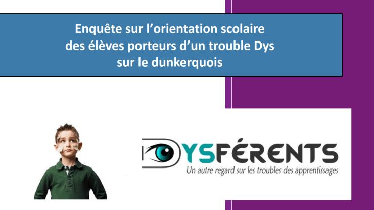 Orientation des «dys» – Résultats de l'enquête ULCO/Dysférents