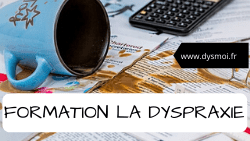 image formation dyspraxie