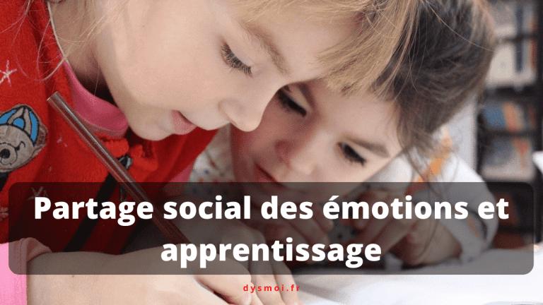 Partage social des émotions et l'apprentissage
