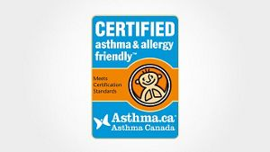Certificate as asthma and allergy friendly