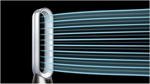 Dyson purifier purifying a large living space