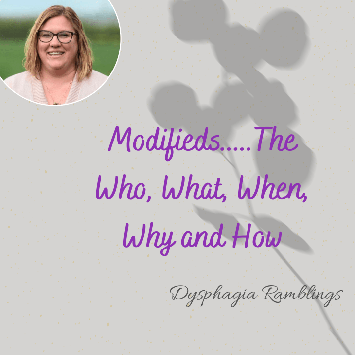 Modifieds……The Who, What, When, Why and How