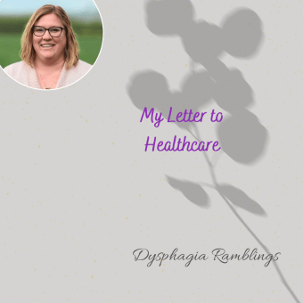 My Letter to Healthcare