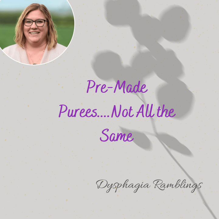 Pre-Made Pureeds…..Not All the Same