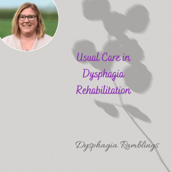 Usual Care in Dysphagia Rehabilitation