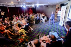 About 85 participants had gathered in Edinburgh.