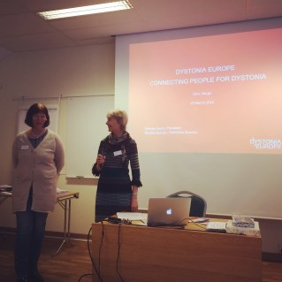 Merete and Monika informing about Dystonia Europe...