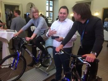 EPDA staff biking.