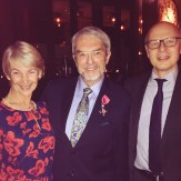 Monika Benson and Prof Tom Warner with Alistair