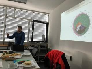Tobias Hack making a presentation on genetic testing