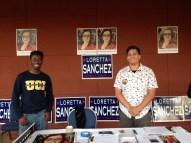Volunteers for Sanchez's campaign.