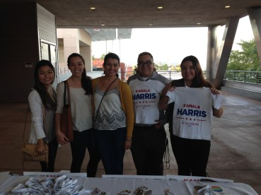 Kamala Harris volunteers.
