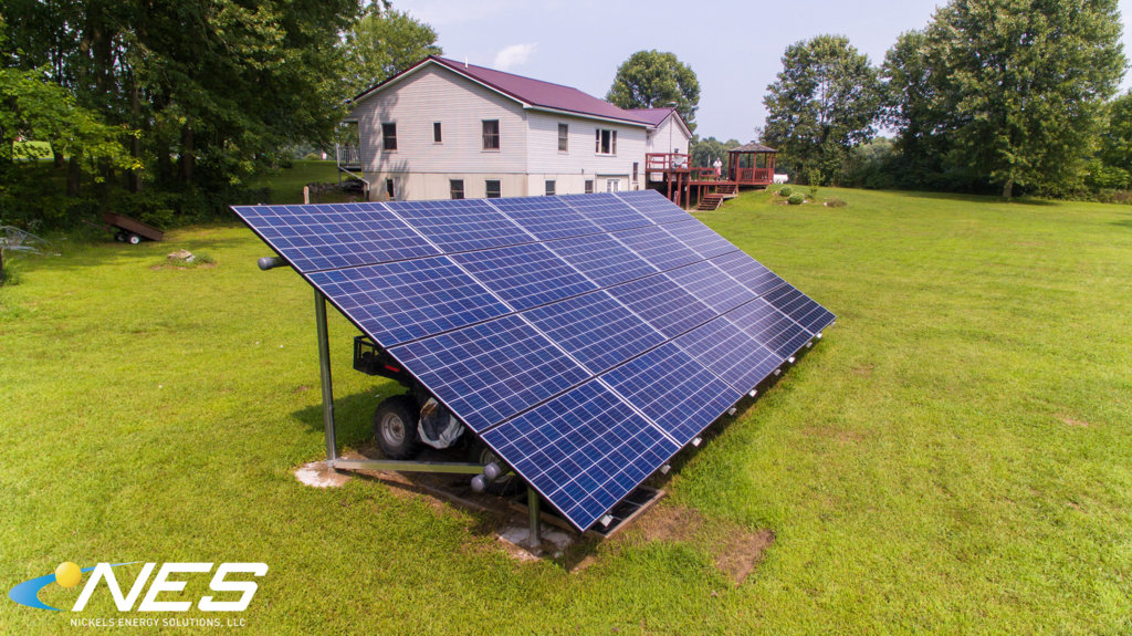 Traditional Ground Mounted Solar Panels Nickels Energy Solutions