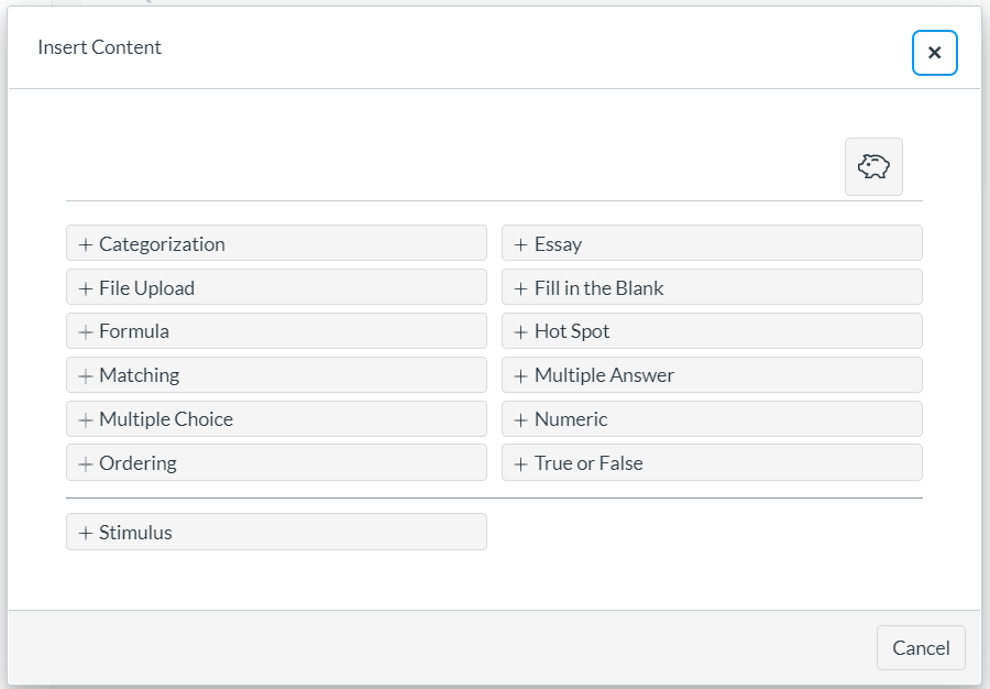 New Quizzes question types