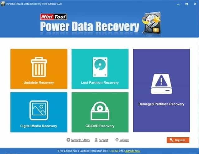 Minitool Power Data Recovery 7 لاسترجاع جميع الملفات