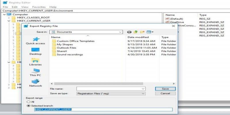 كيفية استعادة النسخ الاحتياطية للسجل في Windows 10 تقنيات