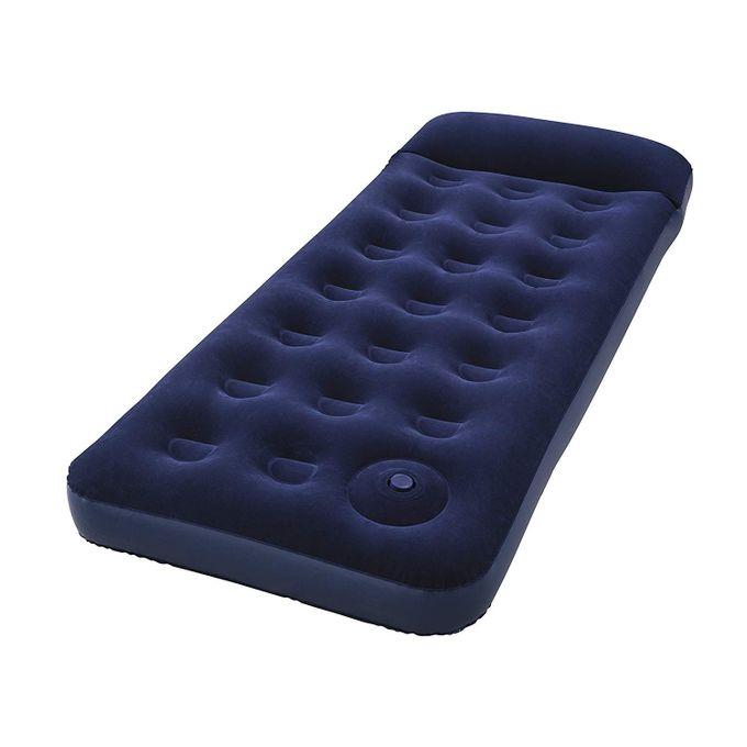 matelas gonflable avec pompe integre 1 place bleu