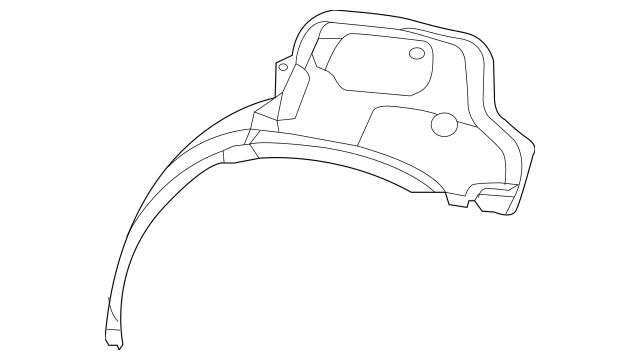 2011-2014 Dodge Charger Outer Wheelhouse 68037791AB Mopar