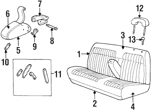 Front Seat Components for 1992 Chevrolet K1500 Pickup