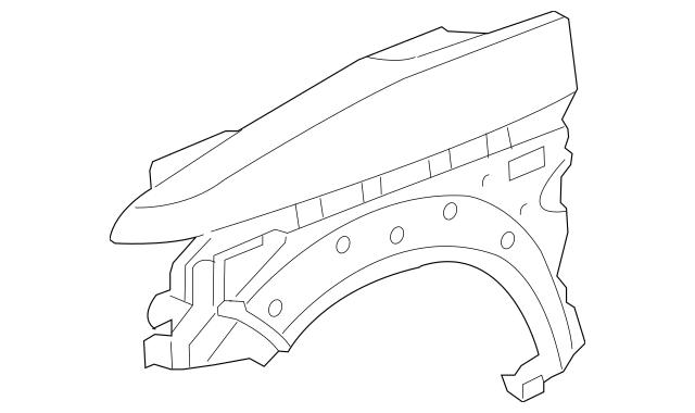 2003-2008 Honda ELEMENT 5-DOOR Panel, L Front Fender (DOT