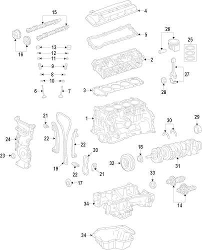 ENGINE for 2014 Nissan Altima