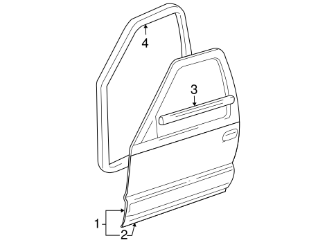 OEM DOOR & COMPONENTS for 2006 Buick Rainier