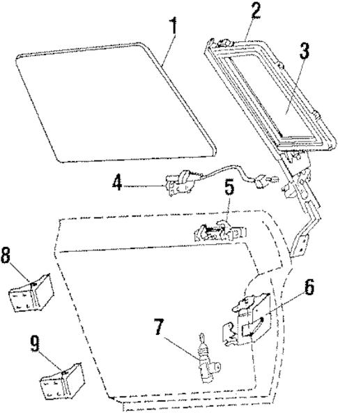 OEM REAR DOOR for 1984 Oldsmobile Cutlass Supreme