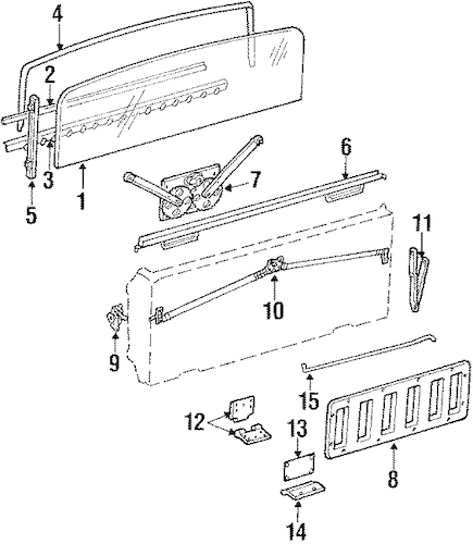 HARDWARE for 1990 Jeep Grand Wagoneer