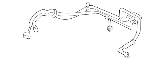 2000-2001 Mazda MPV Hose & Tube Assembly LC73-61-46ZE