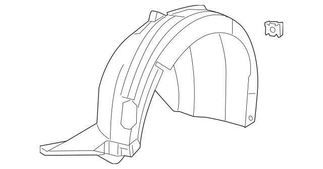 2012-2014 Volkswagen Jetta Fender Liner 5C6-805-911-Q