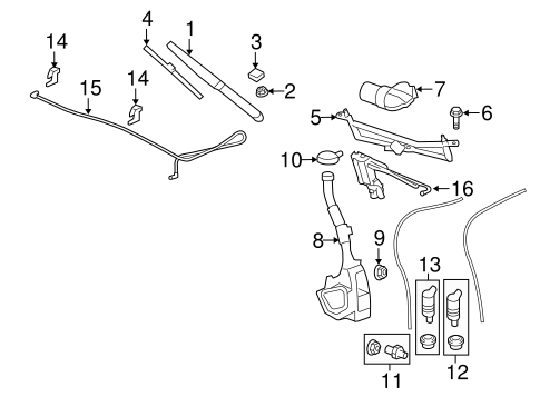 OEM 2012 Chevrolet Traverse Wiper & Washer Components
