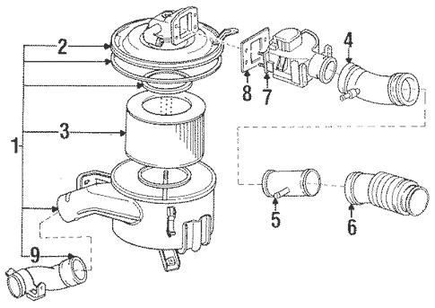 Genuine OEM Air Intake Parts for 1992 Toyota Land Cruiser