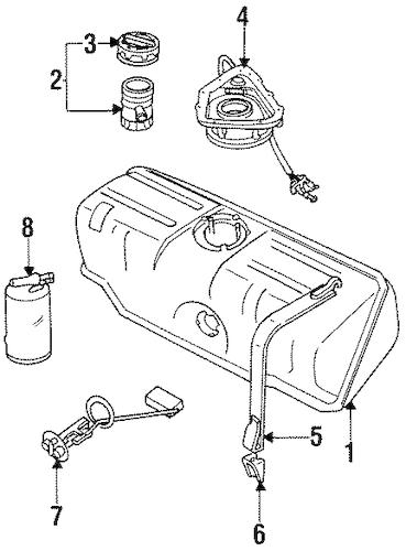 Fuel System Components for 1990 Jaguar XJ6