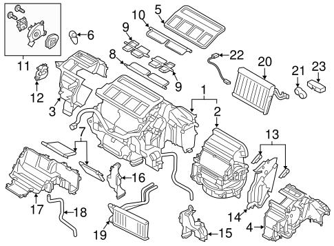 Evaporator & Heater Components for 2016 Subaru Outback