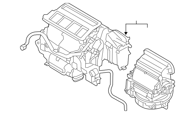 Subaru AC & Heater Assembly (72100AL20D) For Sale