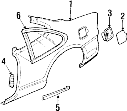Quarter Panel & Components for 2001 Pontiac Grand Prix
