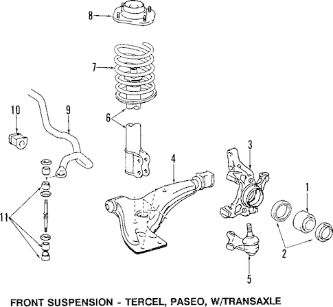 Suspension Components for 1992 Toyota Paseo