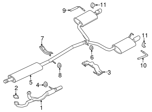 EXHAUST COMPONENTS for 2014 Ford Flex