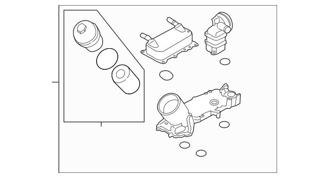 Porsche Oil Filter Housing (9A1-107-030-12) For Sale
