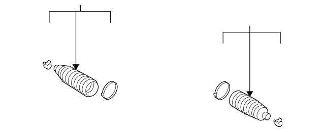 2008-2015 Nissan Rogue Select Manual Steering Gear Boot