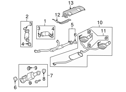 EXHAUST COMPONENTS for 2009 Buick Enclave