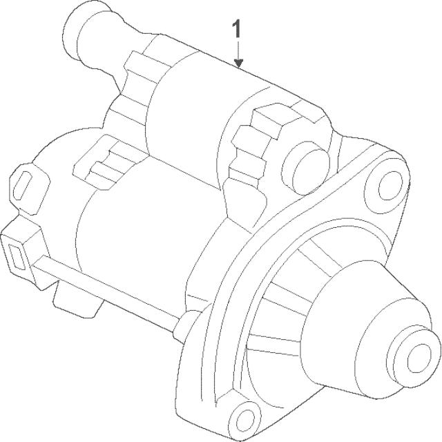 2013-2017 Honda Starter Motor Assembly (Sm-74009)(Mitsuba