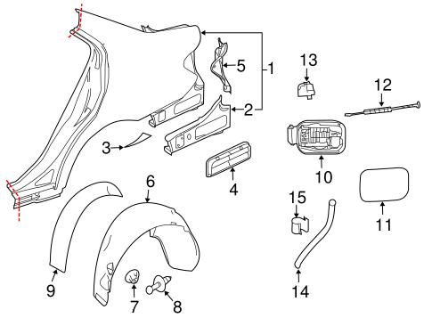 Quarter Panel & Components for 2011 Mercedes-Benz C300