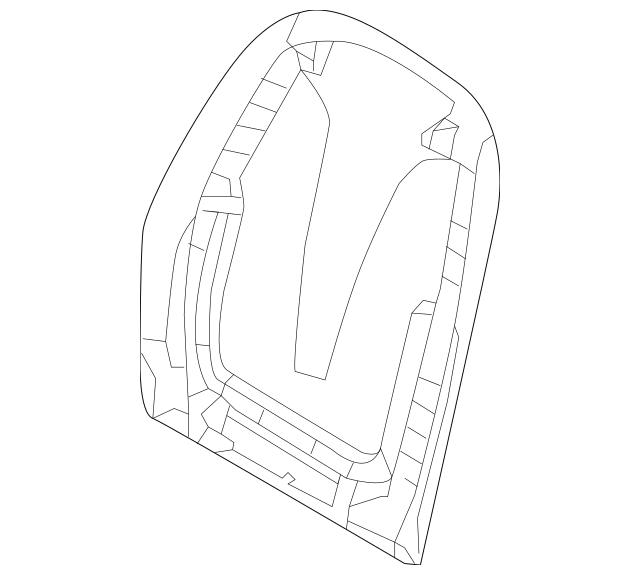 2016-2017 Hyundai Elantra GT Seat Back Panel 88490-A5650