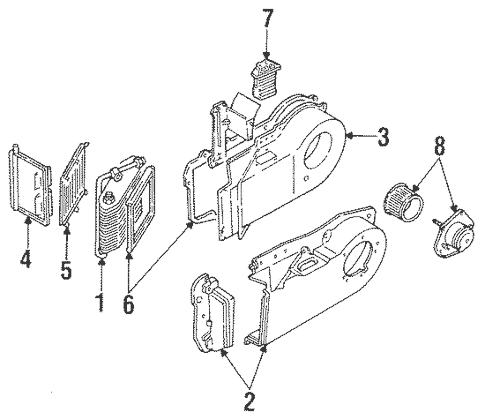 OEM 1993 Cadillac Allante Condenser, Compressor & Lines
