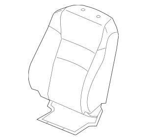 2019-2020 Honda PASSPORT 5-DOOR Cover, L Front Seat-Back