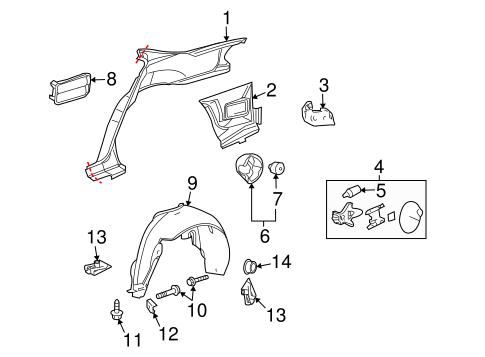 OEM 2007 Buick LaCrosse Quarter Panel & Components Parts